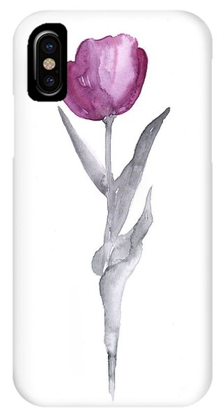 Abstract Tulip Flower Watercolor Painting IPhone Case