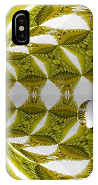Abstract Tunnel Of Yellow Grapes  IPhone Case