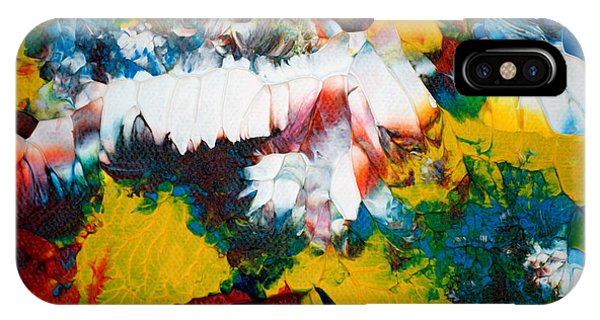 IPhone Case featuring the painting Abstract U1112a by Mas Art Studio