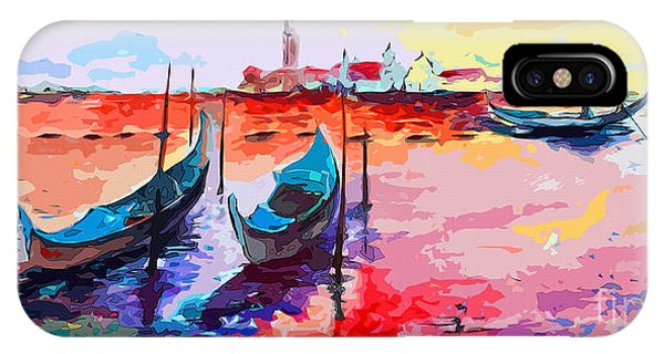 Abstract Venice Gondolas  IPhone Case