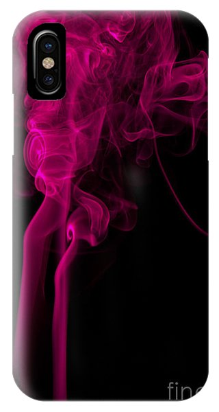 Abstract Vertical Purple Mood Colored Smoke Wall Art 03 IPhone Case