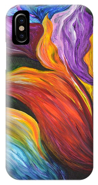 Abstract Vibrant Flowers IPhone Case