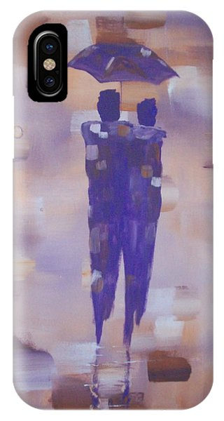 Abstract Walk In The Rain IPhone Case