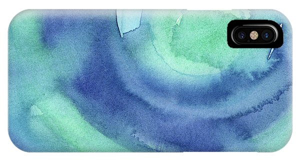 Aqua iPhone Case - Abstract Watercolor Aqua Blues by Olga Shvartsur