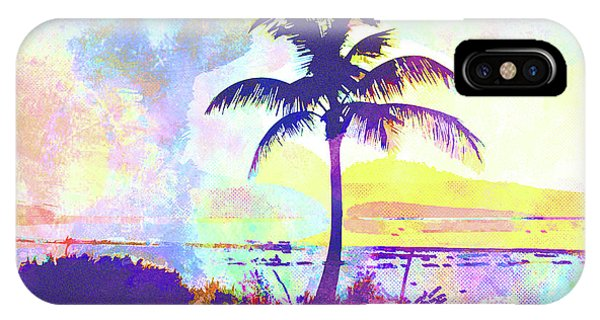 iPhone Case - Abstract Watercolor - Beach Sunset I by Chris Andruskiewicz