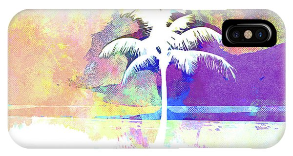 iPhone Case - Abstract Watercolor - Beach Sunset II by Chris Andruskiewicz