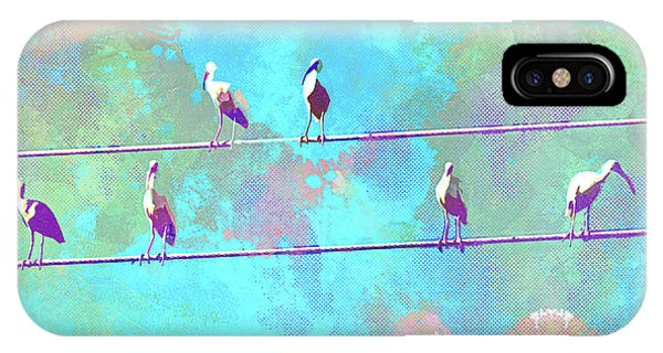 iPhone Case - Abstract Watercolor - Birds Of A Feather I by Chris Andruskiewicz