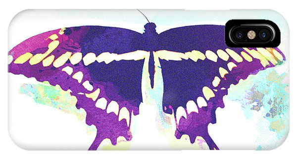 iPhone Case - Abstract Watercolor - Butterfly by Chris Andruskiewicz