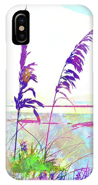 iPhone Case - Abstract Watercolor - Morning Sea Oats I by Chris Andruskiewicz