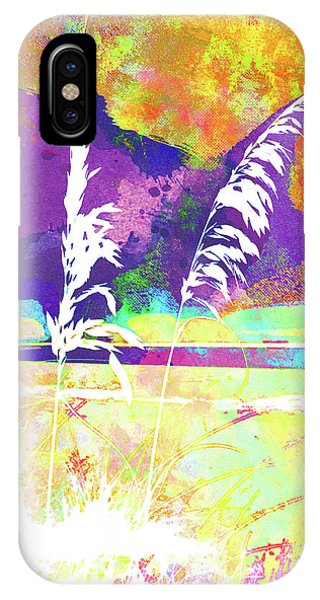 iPhone Case - Abstract Watercolor - Morning Sea Oats II by Chris Andruskiewicz