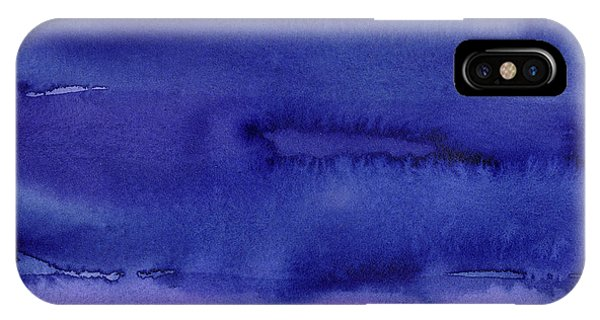 Blue Violet iPhone Case - Abstract Watercolor Pattern by Olga Shvartsur