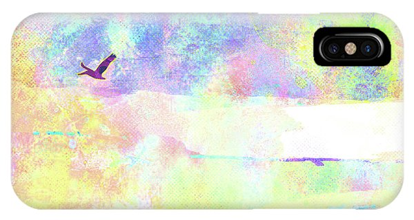 iPhone Case - Abstract Watercolor - Pelican In Flight by Chris Andruskiewicz