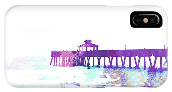 iPhone Case - Abstract Watercolor - Pier At Dusk by Chris Andruskiewicz
