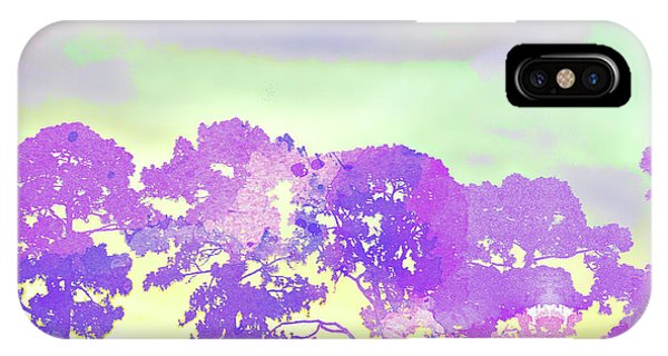 iPhone Case - Abstract Watercolor - Sunset Trees by Chris Andruskiewicz