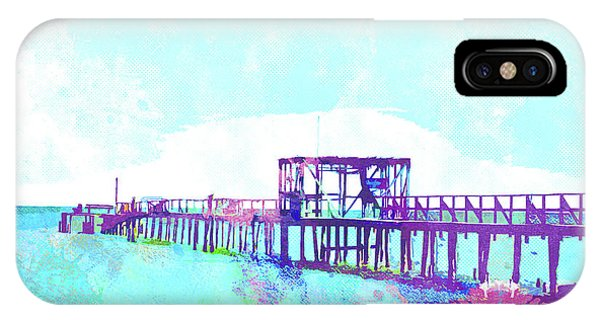 iPhone Case - Abstract Watercolor - Texas Fishing Pier by Chris Andruskiewicz