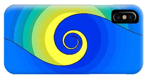 Abstract Wave In The Sunlight  IPhone Case