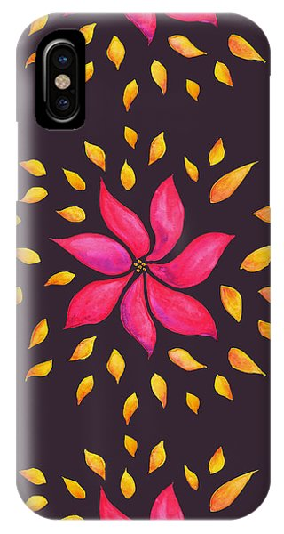 Abstract Whimsical Watercolor Pink Flower IPhone Case