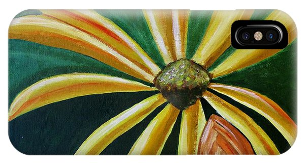Abstract Yellow Sunflower Art Floral Painting IPhone Case