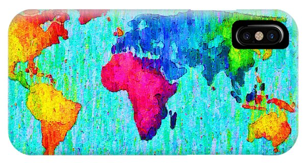 Abstract World Map Colorful 57 - Da IPhone Case
