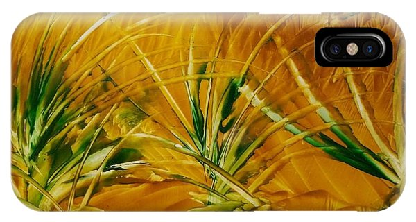 Abstract Yellow, Green Fields   IPhone Case