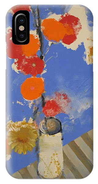 Abstracted Flowers In Ceramic Vase  IPhone Case