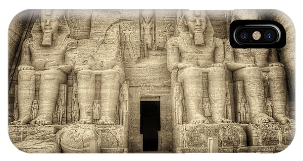 Abu Simbel Antiqued IPhone Case