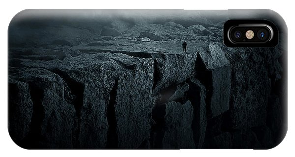 Dark Clouds iPhone Case - Abyss by Zoltan Toth