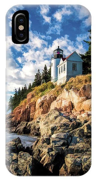 IPhone Case featuring the painting Acadia Bass Harbor Lighthouse by Christopher Arndt