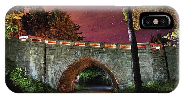 Acadia Carriage Bridge Under The Stars IPhone Case
