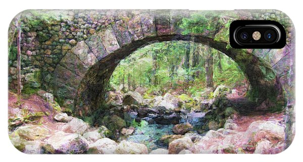 Acadia National Park - Cobblestone Bridge Abstract IPhone Case