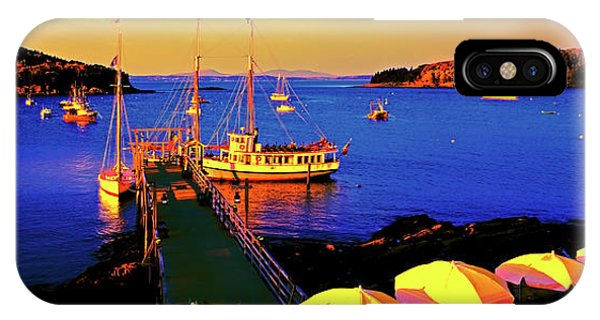 IPhone Case featuring the photograph Acaida  Bar Harbor  Pier by Tom Jelen