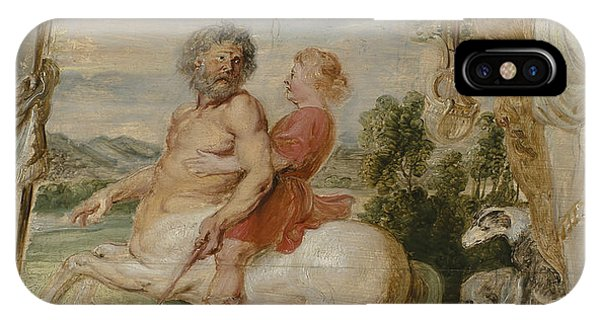 Centaur iPhone Case - Achilles Educated By The Centaur Chiron by Peter Paul Rubens