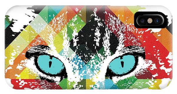 Acid Cat Dream By Robert R IPhone Case