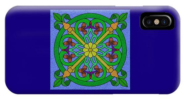 Acorn On Blue IPhone Case