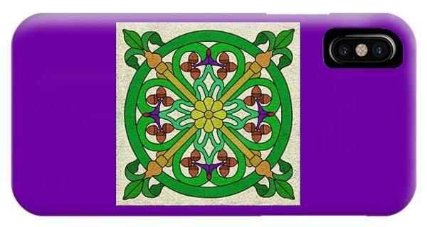 Acorn On Cream/purple IPhone Case