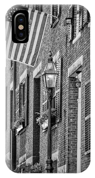 Acorn Street Details Bw IPhone Case