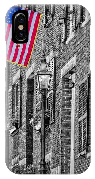 Brownstone iPhone Case - Acorn Street Details Sc by Susan Candelario