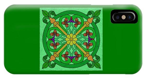 Acorns On Light Green IPhone Case