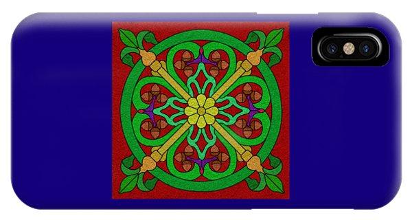 Acorns On Red 2 IPhone Case