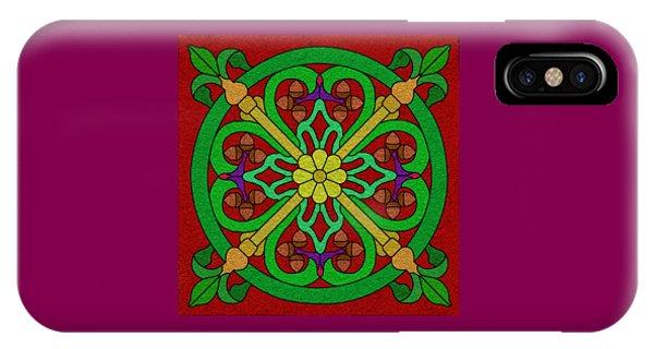 Acorns On Red IPhone Case
