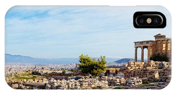 Greece iPhone Case - Acropolis Of Athens Panoramic by HD Connelly