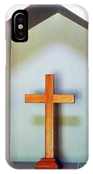 Across A Cross IPhone Case
