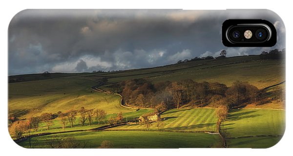 Bucolic iPhone Case - Across Dovedale At Sunset by Chris Fletcher