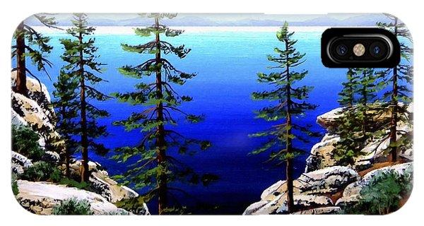 Across Lake Tahoe IPhone Case