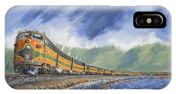 Passenger Train iPhone Case - Across The Great Northwest by Christopher Jenkins
