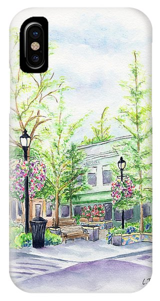 Across The Plaza IPhone Case