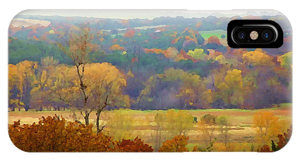Across The River In Autumn IPhone Case