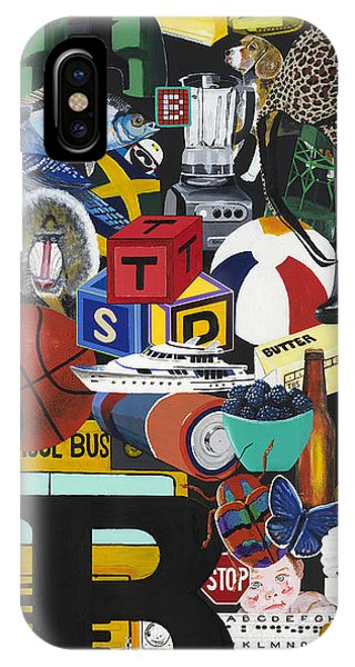 Acrylic Painting Letter B Phone Case by Scott Duffy