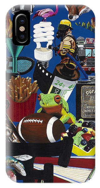 Acrylic Painting Letter F Phone Case by Scott Duffy