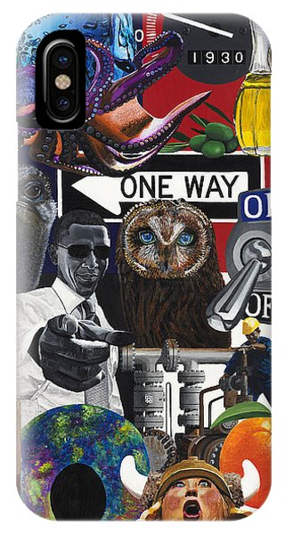 Acrylic Painting Letter O Phone Case by Scott Duffy